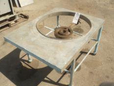"Natural Gas Tank Burner Table w/ 10"" Gas Ring Burner. 28"" Diameter Tank Fit size Burner Hole"