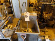RJ S.S. Sink w/ Faucet, 19'' x 19'' x 12''