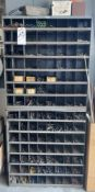 (Lot) Pidgeon Cubby Hole Cabinet w/ Lg. Qty. of