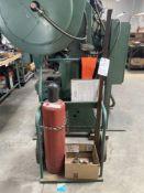 (Lot) Acetylene Tank w/ Cart & Gage
