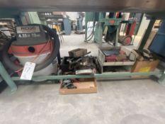 (Lot) Misc. Contents Under Bench -- Abrasive, Shop