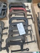 (Lot) (10) C-Clamps