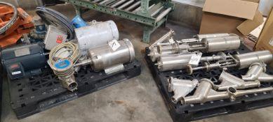 (Lot) Assorted motors & valves on 2-pallets