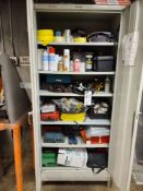 (Lot) Cabinet w/ Assorted Tools
