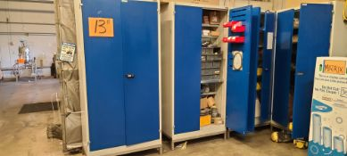 (Lot) Cabinets w/ Spare Parts for (2011) Aseptic Filling Line