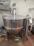 (1992) Groen mod. N-150, 150 Gal. S.S. Steam Jacketed Kettle, Max W.P. 45 psi at 300°, 32°F at