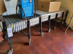Roller Type Flex Conveyor, Approx. 24''W x 16'L (No Contents)