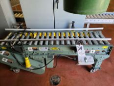 Hytrol Roller Type Transfer Conveyor, 14'' x 60''L