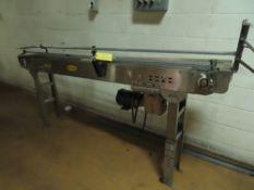 """Hytrol 6"""" x 8' Belt Conveyor (SEE NOTE)"""