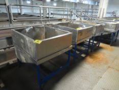 (6) Stainless Steel Feed Bins (SEE NOTE)