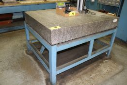 """Granite Surface Plate 46"""" x 60"""" x 8"""" w/ Stand"""