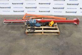 Mannesmann Demag PM 5 N-F 50KG Chain Hoist w/ Swing Beam Jib Crane