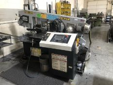 Hydmech S-20A horizontal bandsaw, SN: 2B07179597, 420v, 3 phase, evolution TS50, controls by