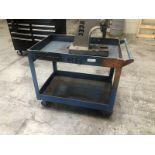Blue shop cart