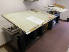 Lot of 2 drafting tables