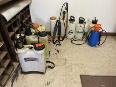 Lot of 8 pump sprayers