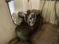 Air compressor twin head horizontal