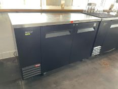 """Turbo Air Stainless steel top 2 door back bar cooler, 59"""" long, M: TBB-26B-N6 (Tested)"""