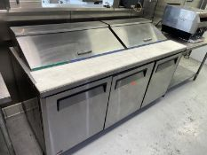 """Turbo Air sandwich prep, 2 lift top covers, 3 lower doors, 73"""" long, M: MST-72 (tested)"""