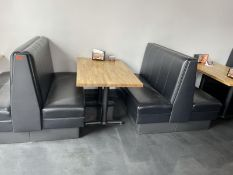 Lot: (3) double sided & (2) single sided black vinyl booths