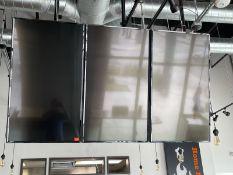 Lot of 3 LG flat panel TV used as menu board