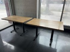 """Lot of 2 four top dining tables with wood top, 48""""x30"""""""