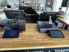 Toast POS system with 2 terminals, employee interface, 2 customer interface, 2 Epson receipt