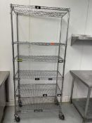 "Metro style shelf on casters, 6 shelves, 36""W x 18""D x 80""T"