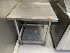 """Stainless Steel table with lower shelf 30""""x30"""""""