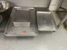 Lot of aluminum sheet pans