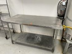 """Stainless Steel prep table with under shelf 60""""L x 30""""D"""