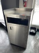 """Stainless Steel trash receptacle 24""""w x 23""""d x 45t"""