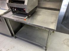 """Stainless Steel table with undershelf 48""""L x 30""""W"""