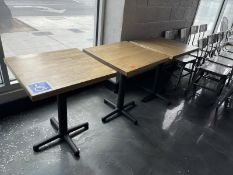 """Lot of 3 wood dining tables, 24""""x24"""""""