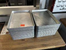 """Approx. 40 aluminum sheet pans 13""""x9.5"""""""