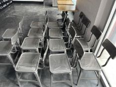 Lot of 14 metal dining chairs