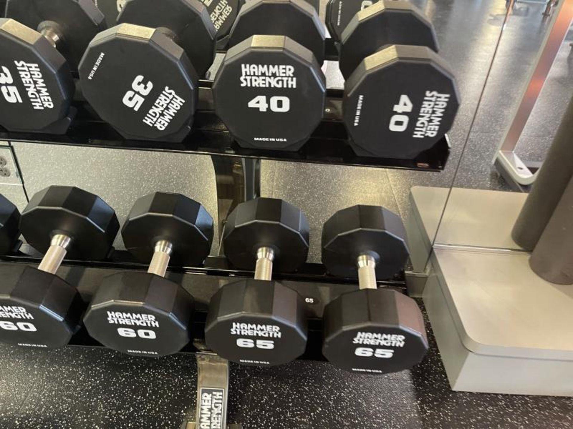 Hammer Strength Dumbbells 20-65# - Image 2 of 6