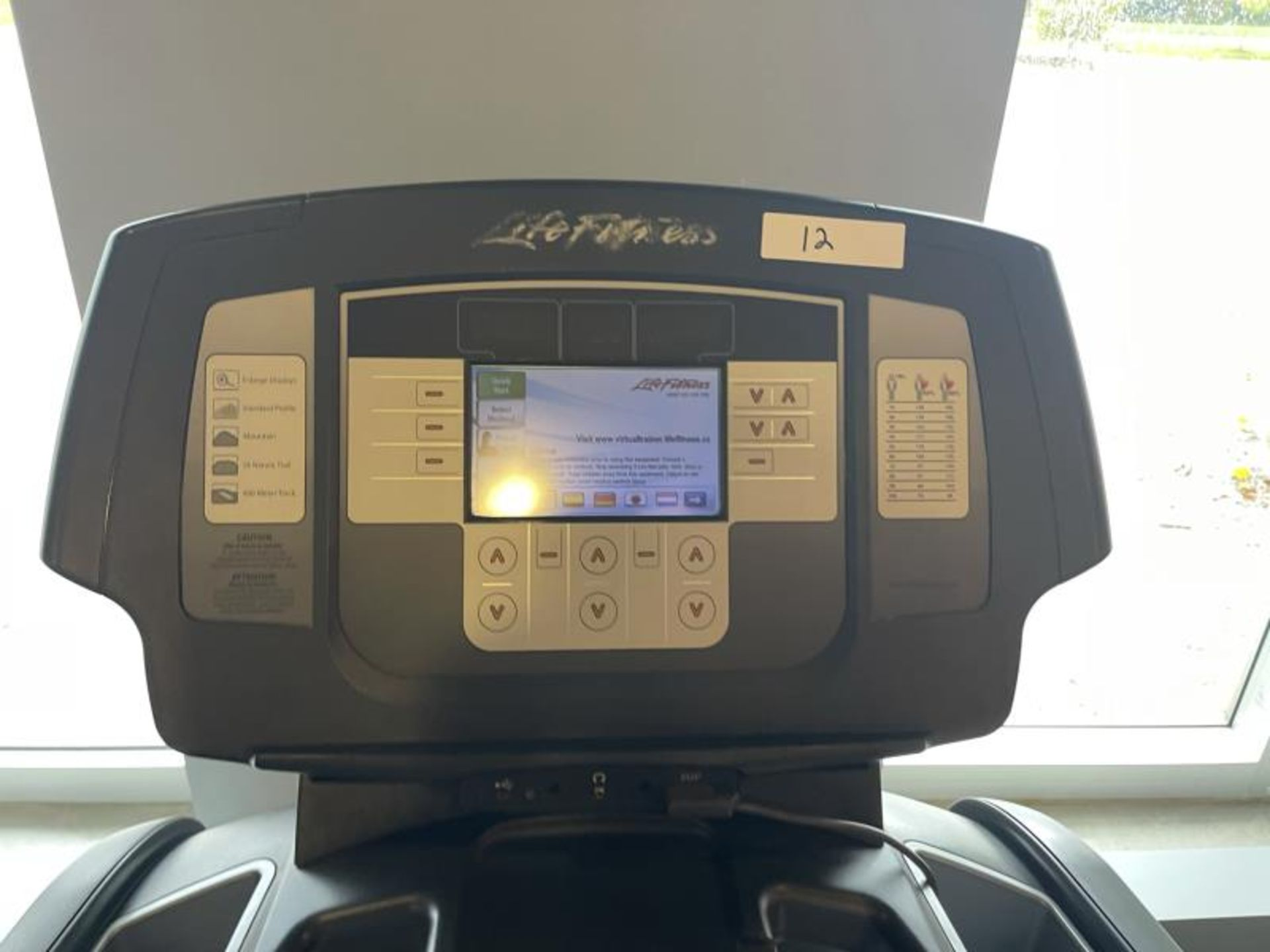 Life Fitness Treadmill M: 95T with Flex Deck, Shock Absorption System SN: TET107092 - Image 2 of 2