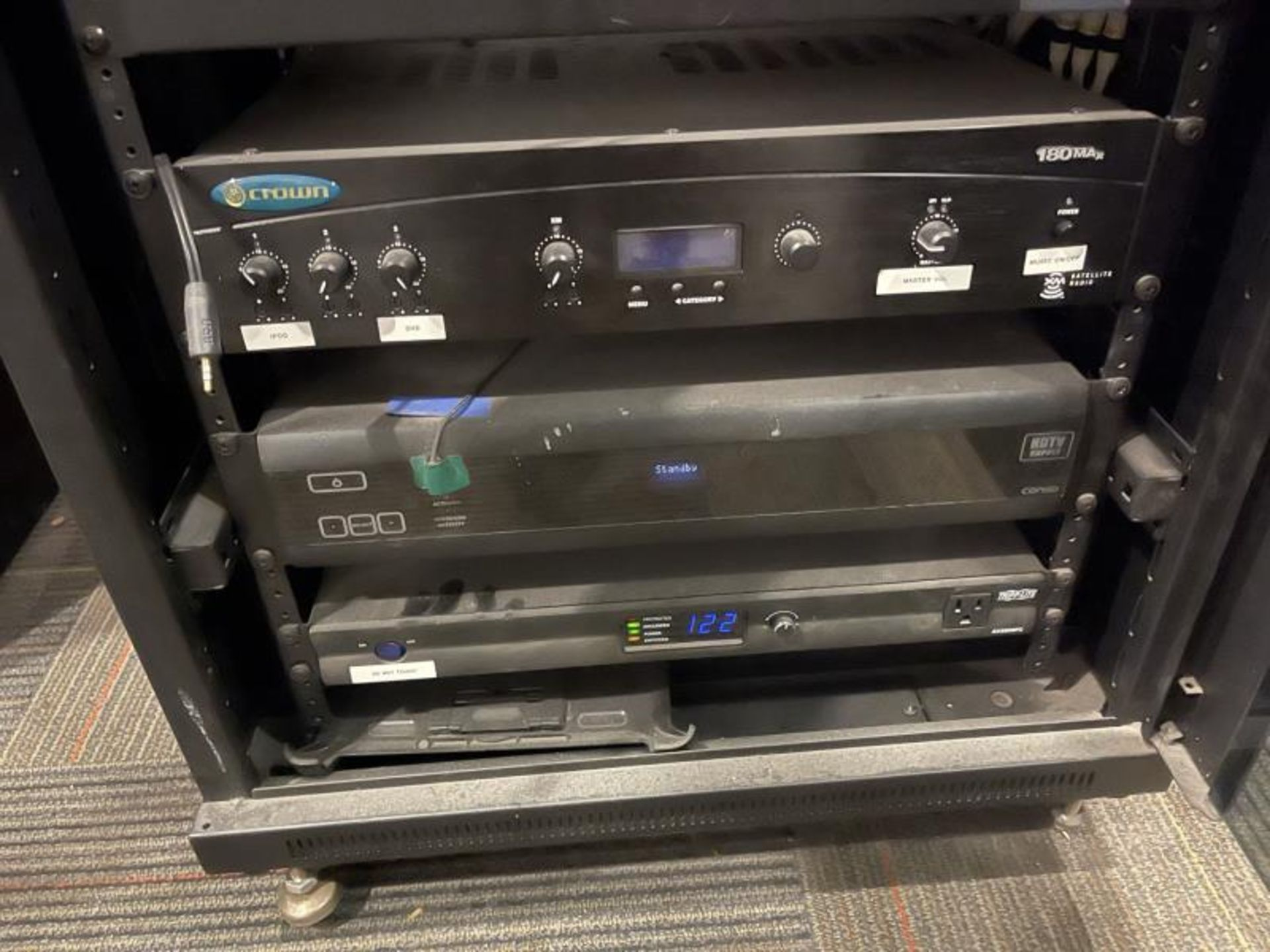 Omni Design Glass Door Electronics Cabinet with Crown 180 Max with Satellite Radio, Congo HDTV Suppl - Image 4 of 4