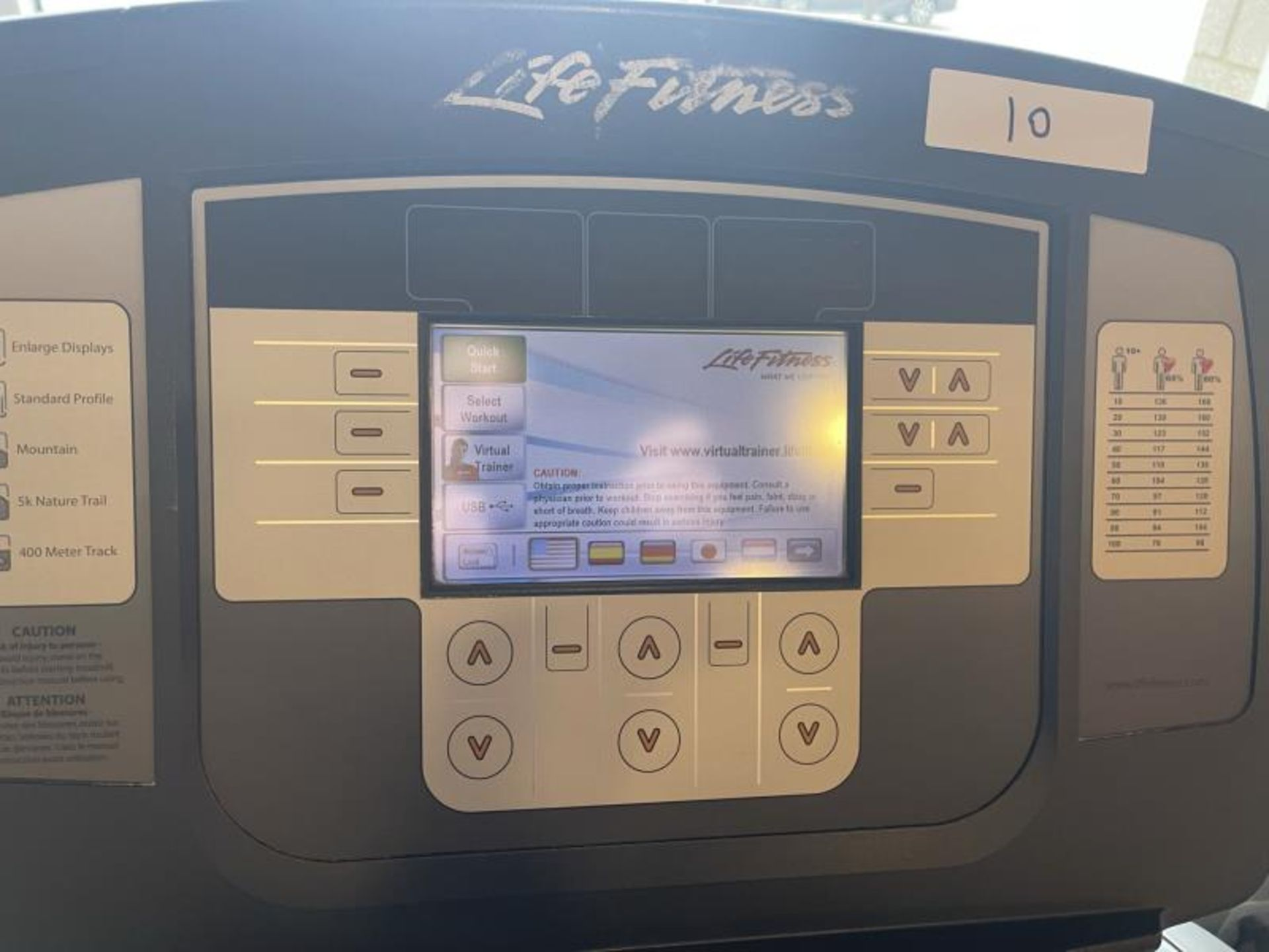 Life Fitness Treadmill M: 95T with Flex Deck, Shock Absorption System SN: TET106286 - Image 2 of 2