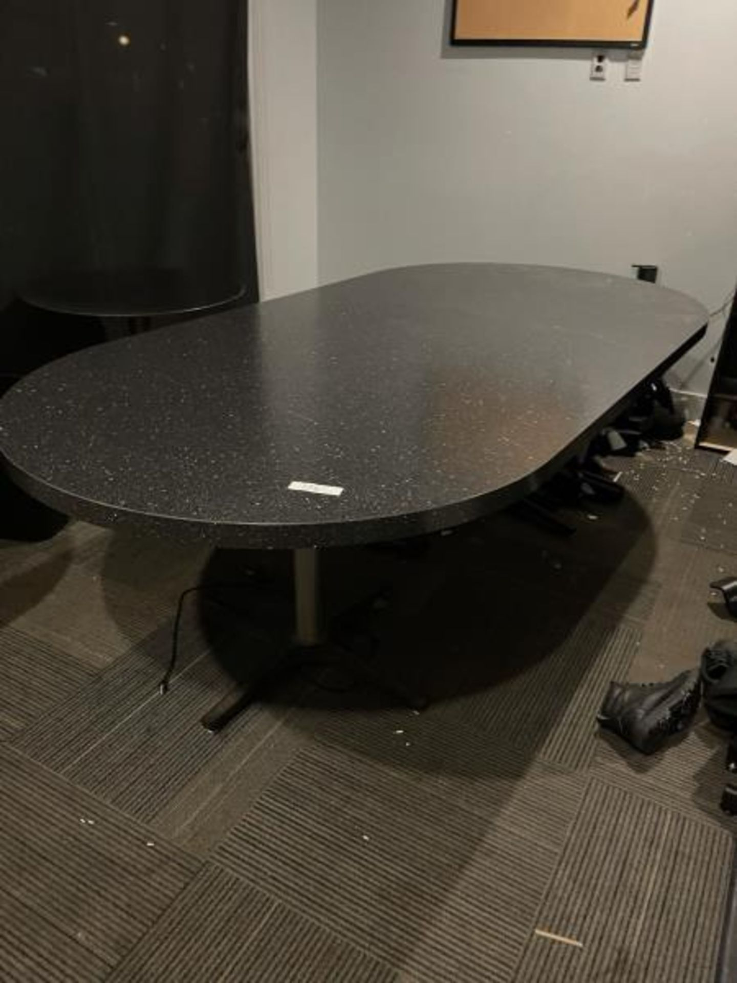 8' Lamintae Confrence Table w/ (2) Steel Table