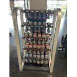 Life Fitness Dumbbell Rack, Coated, Lift Fitness Dumbbells 2.5, 5, 7.5, 10, 12.5, 15 LBS