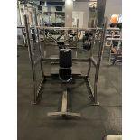 Hammer Strength Rack with Bar