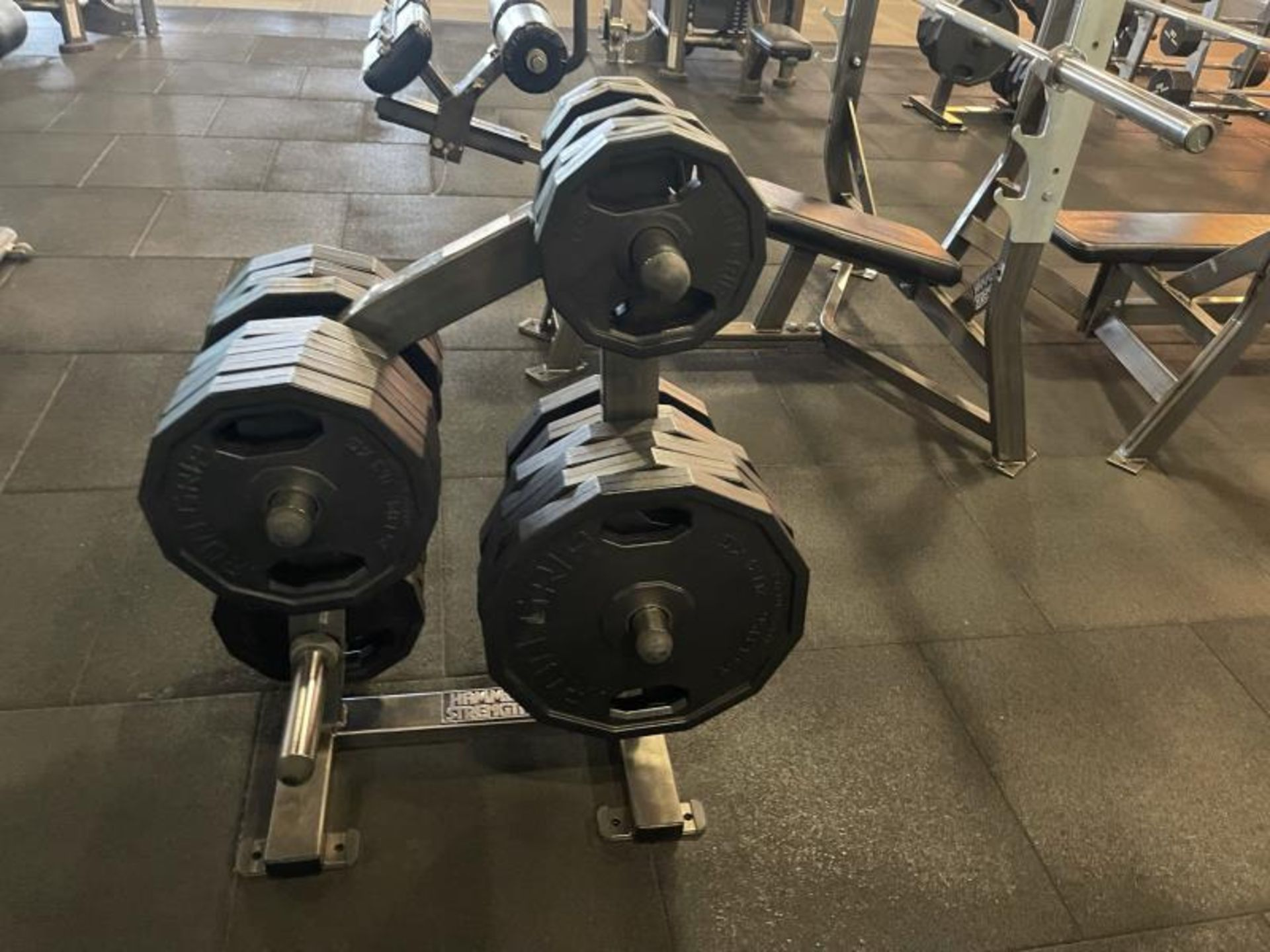 Hammer Strength Weighted Tree with Iron Grip Weight Plates - Image 2 of 3