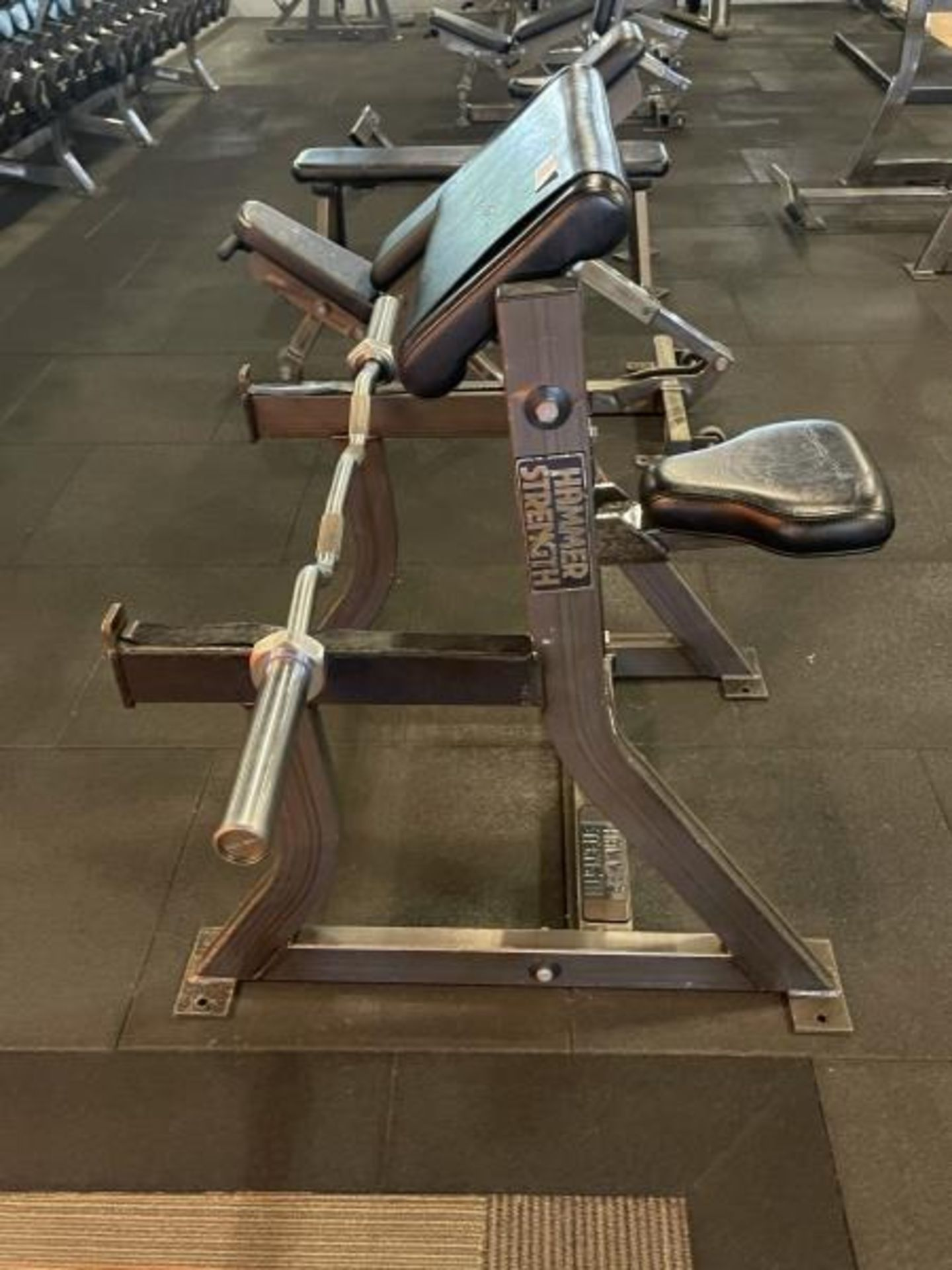 Hammer Strength Bicep/Preacher Curl Bench with Curl Bar M:B01 - Image 3 of 4