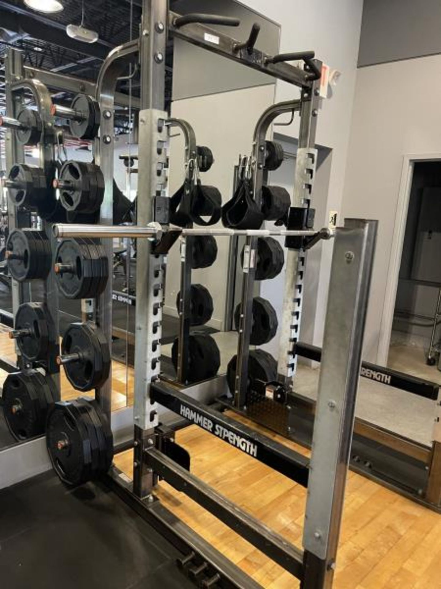 Hammer Strength with Wood Floor, Rack, Iron Grip Weight Plates M: HDMR8/B01 - Image 7 of 7