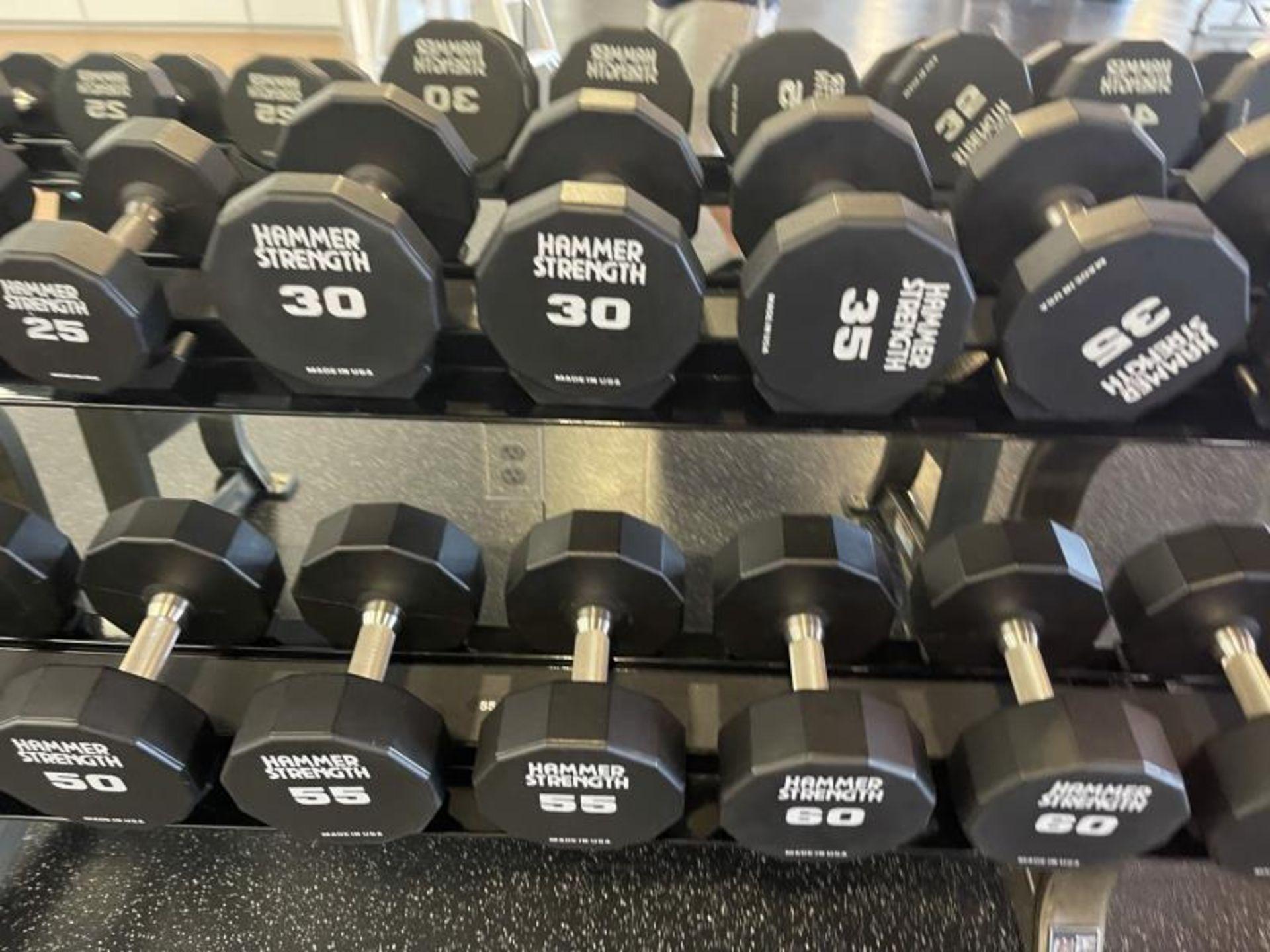 Hammer Strength Dumbbells 20-65# - Image 3 of 6