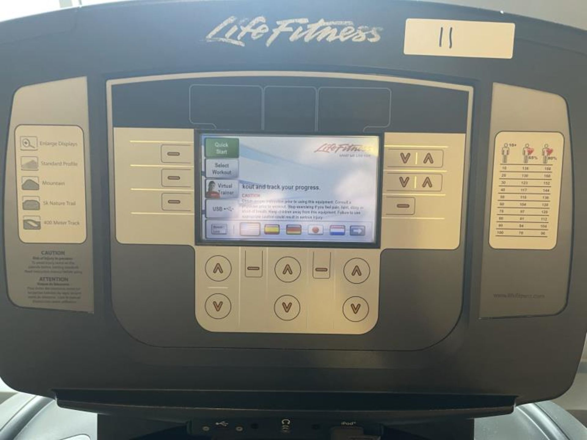 Life Fitness Treadmill M: 95T with Flex Deck, Shock Absorption System SN: TET107097 - Image 2 of 2
