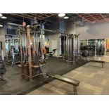 Life Fitness Multi Station Crossover Unit with Tricep, Pushdown, Dual Pulley, Pulldown, Adjustable C