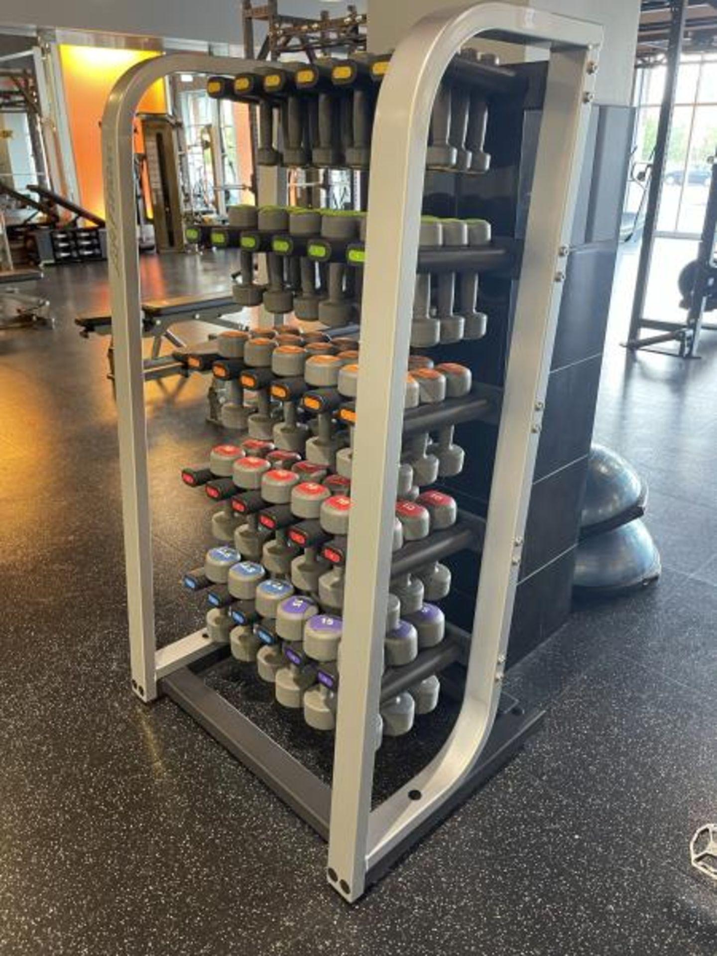 Life Fitness Dumbbell Rack, Coated, Lift Fitness Dumbbells 2.5, 5, 7.5, 10, 12.5, 15 LBS - Image 4 of 4